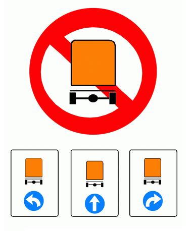 Señales: restricción al tráfico
