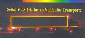 Señal V-23 Distintivo de vehículos de transporte de mercancías